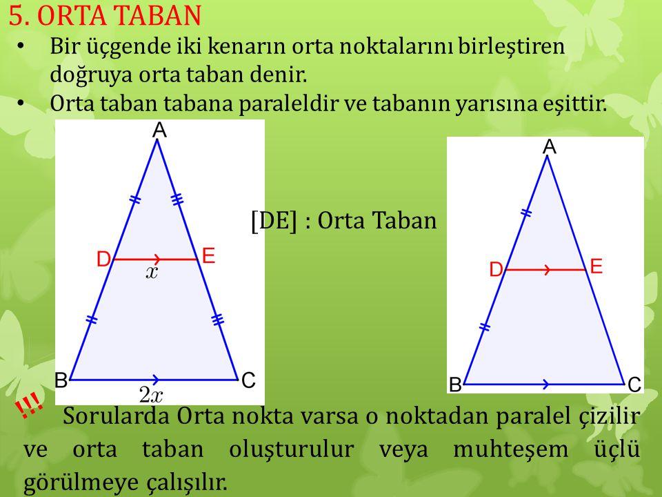 5. ORTA TABAN !!! [DE] : Orta Taban